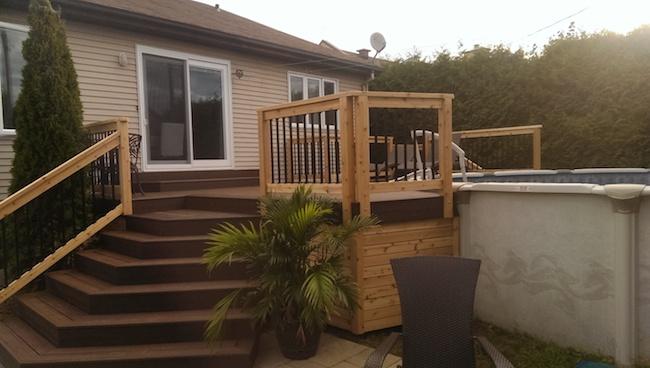 Construction de patio balcon ou terrasse go soumissions for Piscine hors sol toit terrasse